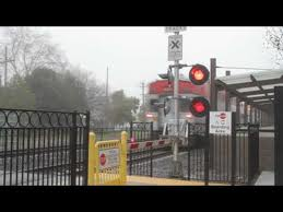 Caltrain at-grade crossing