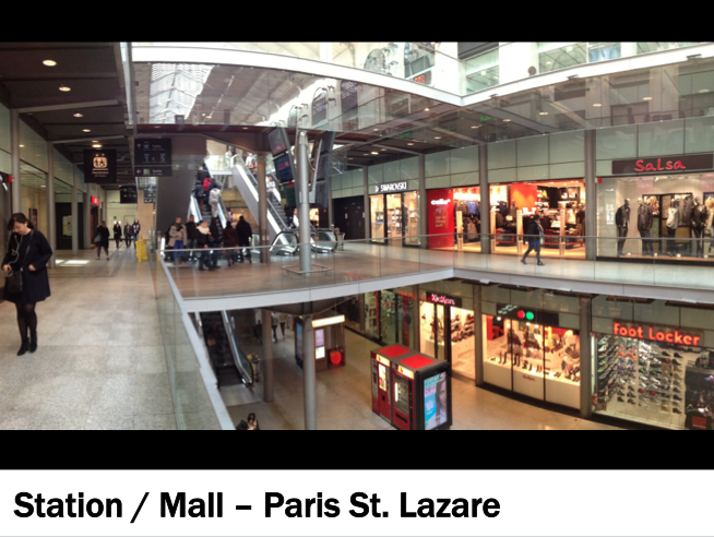 Paris St Lazare Station and Shopping Mall
