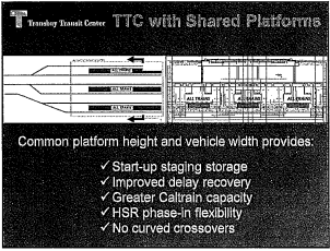 Advantages of platform compatibility for Transbay service