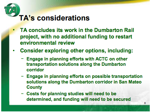 Dumbarton options for SMCTA