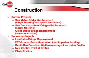 Upcoming Caltrain Construction